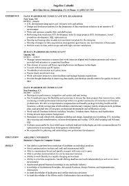 Data Warehouse Consultant Resume Samples Velvet Jobs