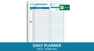 Basic Daily Planner Excel Template Printable Daily Schedule Instant Digital Download