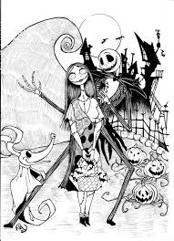 Small Picture Fantastical The Nightmare Before Christmas Coloring Pages Best