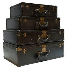 Vintage Louis Vuitton Black Epi Leather Four-Piece Luggage Set