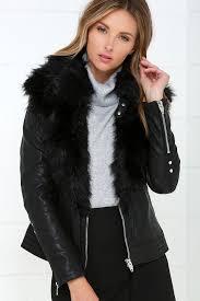 blank nyc control freak black vegan leather jacket