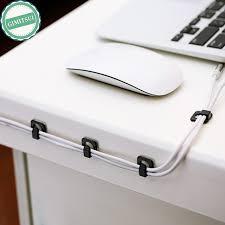 18pc cable cord wire line organizer clips fixer fastener tidy holder desk wall organiser tie fixer