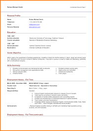 11 Personal Profile Sample Template Address Example