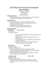 A Simple Resume Example Sensational Template For Freshers ...