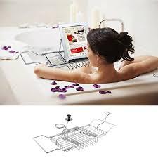 over bath tub racks shower organizer bathtub caddy tray with extending side j8e6