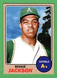 Size Of A Baseball Card Reggie Jackson 1968 Topps Style Rookie Baseball Card What