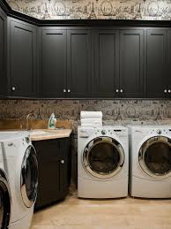 country living room ci allure:  black and white laundry room photos