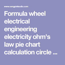 Formula Wheel Electrical Engineering Electricity Ohms Law