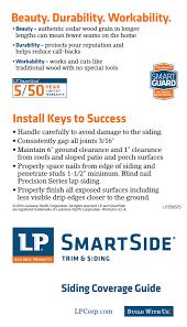 Lp Smartside Coverage Chart Lp Smartside Coverage Chart