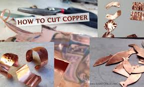 how to cut copper sheet for jewelry how to cut copper sheet with simple tools basket of blue