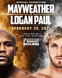 Floyd mayweather, left, and logan paul face off during a press event thursday, june 3, 2021, in miami beach, fla. Logan Paul On Twitter It S Official Floydmayweather Https T Co Ffrrayoucs