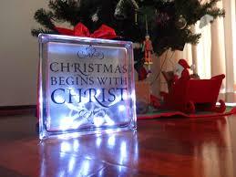 lighted glass block diy decoration flexible portrayal but