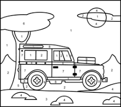 Download this free printable now so your child can start tracing and coloring numbers! Vehicles Coloring Pages