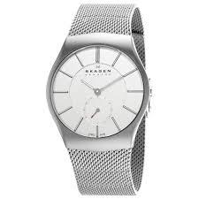 skagen men s 916xlsss steel silver dial stainless steel mesh skagen men s 916xlsss steel silver dial stainless steel mesh bracelet watch