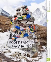 Memorial Of Climber Scott Fischer Near Everest Base Camp Nepal