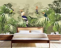 Beibehang Custom 3d Retro Rainforest Parrots Fondos De Pantalla