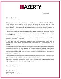 carta de negocios carta a distribuidores azerty esemanal noticias del canal