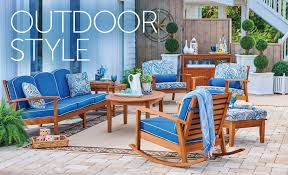patio decorating ideas. Delighful Patio Outdoor Living Space With Eucalyptus Patio Furniture On Patio Decorating Ideas O