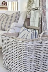 country cottage style storage baskets  ideas about wicker baskets on pinterest painted baskets baskets and p