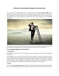 Best Job Search Engines Usa Pdf 8 Reliable Top Job Search Engines You Must Know Jack
