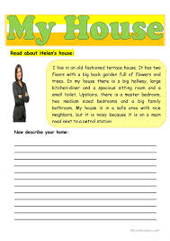 Describe Your Describing Your Home English Esl Worksheets