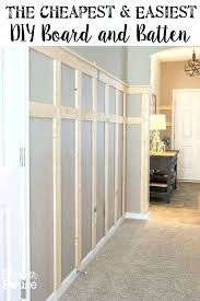 Superior Wall Trim Ideas The Cheapest And Easiest Board Batten Part One Bathroom
