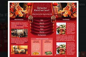 Restaurant Website Templates Cool Chinese Restaurant Website Template Business Template Chinese