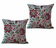 US SELLER-<b>set of</b> 2 retro floral <b>cushion</b> cover <b>cushions</b> and <b>pillows</b> ...
