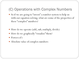 c operations with complex numbers