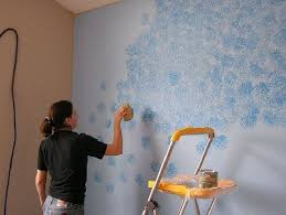 sponge painting pattern pretty walls painting wall painting techniques