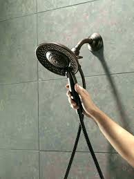 shower heads rain shower head and handheld oil rubbed bronze delta with offer best