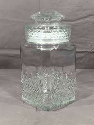vintage glass canister koezes cookie jar decorative collectible glass art clear apothecary jar sealed glass canister kitchen storage jar