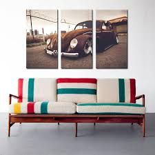 paintings 3 picture combination wall art vw beetle volkswagen vintage classic retro car supercar canvas prints picture painting wall decor with