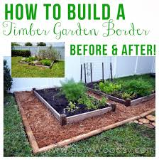 how to build a vegetable garden. How To Build A Timber Garden Border + Vegetable Tips From SewWoodsy.com # E