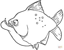 Small Picture Piranha coloring page Free Printable Coloring Pages