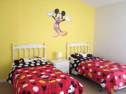 Mickey Mouse Bedroom Bedroom Decor Pink Mickey Mouse Bedroom With Small Bed Mickey
