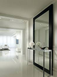 Modern Full Length Wall Mirrors Contemporary Modern Floor Mirrors  Contemporary Hallway Design Ideas With Stainless Console