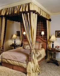 romantic master bedroom with canopy bed. Creating A Romantic Bedroom Canopy Bed With Wonderful Curtains Country . Master L
