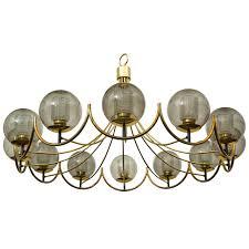pendant lighting globes. Monumental Brass And Smoked Glass Globes Chandelier By Lightolier   1stdibs.com Pendant Lighting