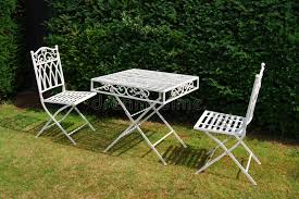 white iron garden furniture. Download White Metal Garden Furniture Table And Two Chairs Stock Image - Of Nobody, Iron I
