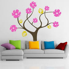 Small Picture Colorful Abstract Tree Flowers Wall Stickers Decals for Modern