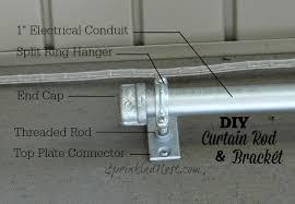 diy curtain rod and bracket sprinkled