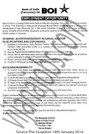 Internal Auditor Assistant Internal Auditor Jobs In Tanzania