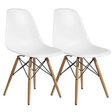 Modern chair plastic Designer Modern Design 8742354128 1004822 Modern Plastic Dining Side Chair Woodleg Eiffel Base Set Of Amazoncom Amazoncom Modern Design 8742354128 1004822 Modern Plastic Dining