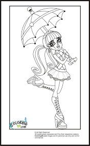 Monster High Draculaura Coloring Pages Team
