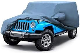 leader accessories jeep wrangler unlimited 4 door custom car cover 5 layer waterproof