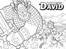 David And Goliath Coloring Pages Pdf Bowie Colouring Jonathan Sheets