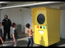 Snapchat Spectacles Vending Machine Adorable Kid Attacks Snapchat Spectacles Bot Vending Machine YouTube