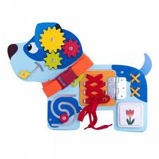 <b>Деревянная игрушка Деревяшки Бизиборд</b> Собачка Гав-Гав ...