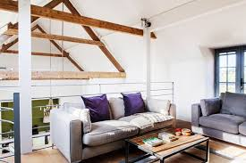 Mezzanine Seating Area in a secluded modern yet characterful barn  conversion in Norfolk created by Clare